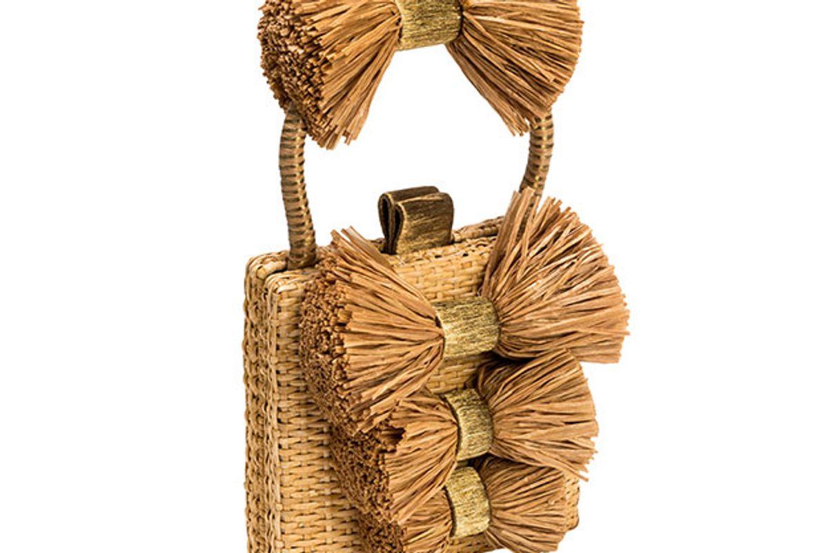 sanayi 313 fiocco box straw bag