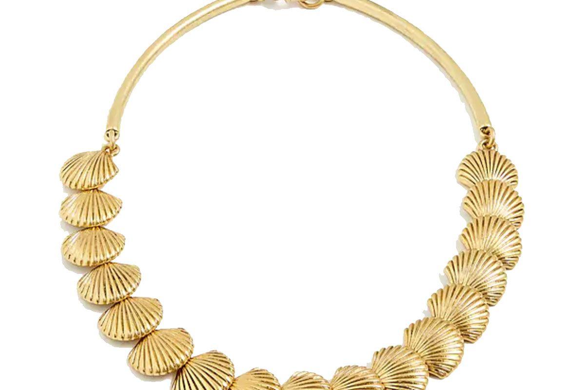 j. crew seashell collar necklace
