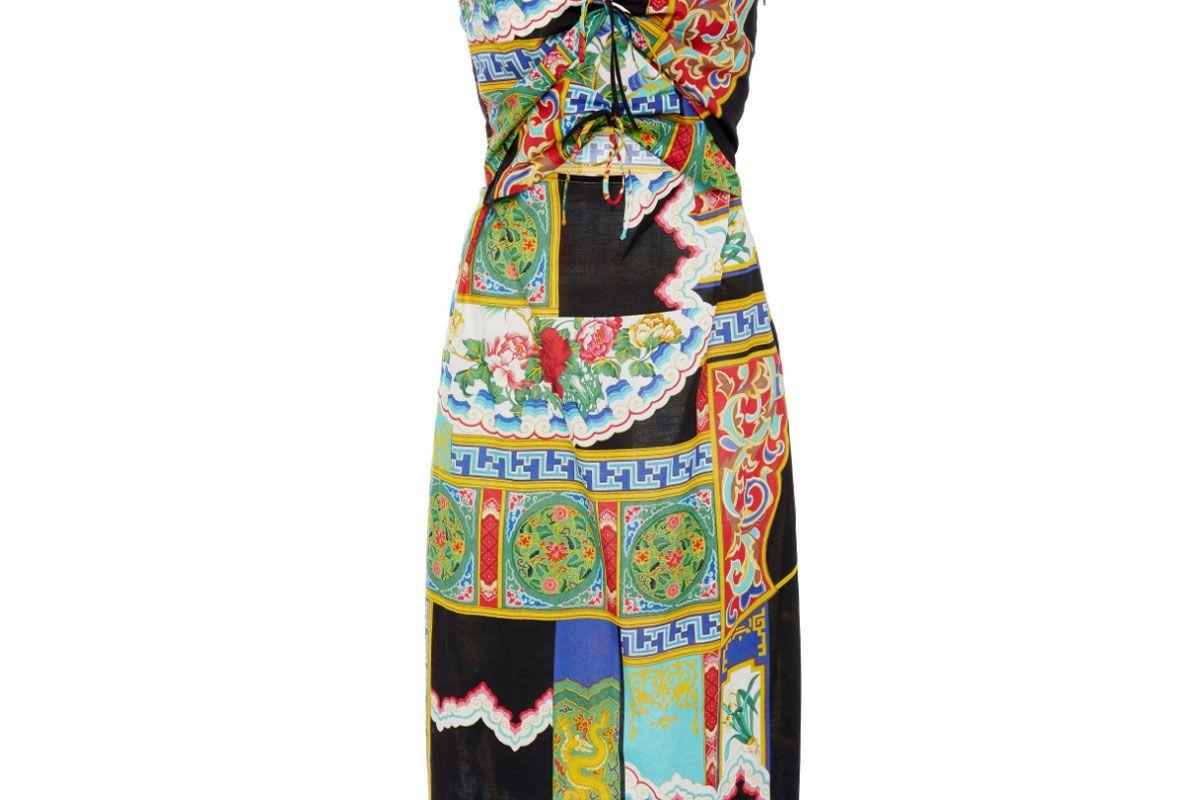 rachel comey chemist tie front cotton dress