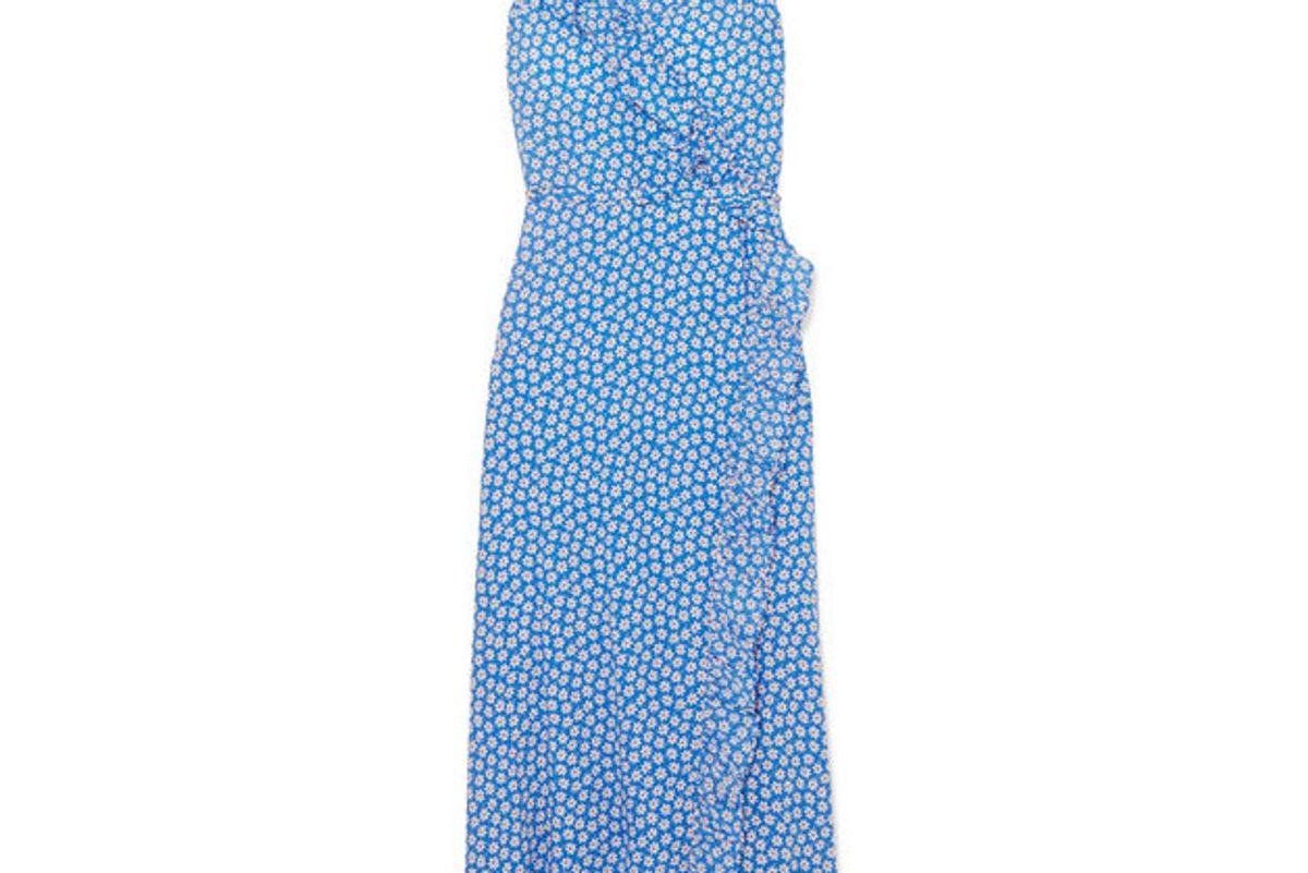 madewell ruffle floral print dress