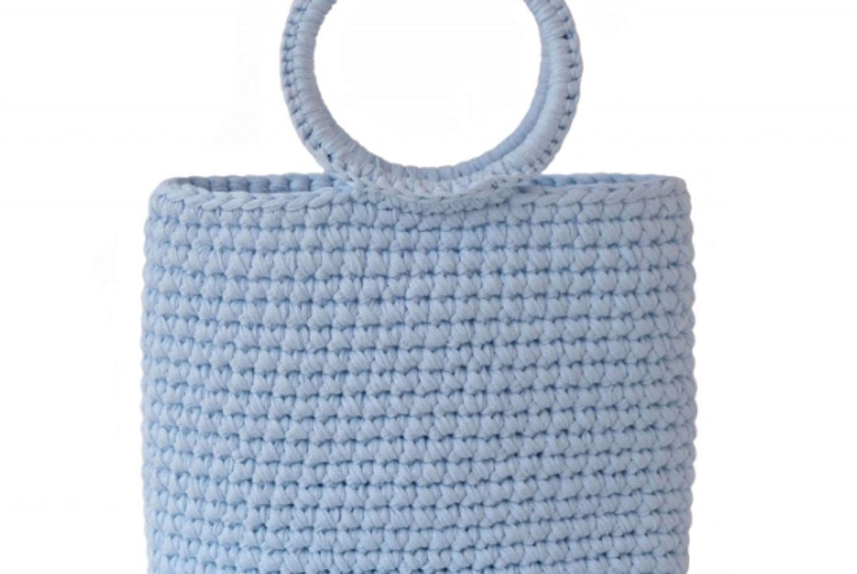 binge knitting light blue bondi tote