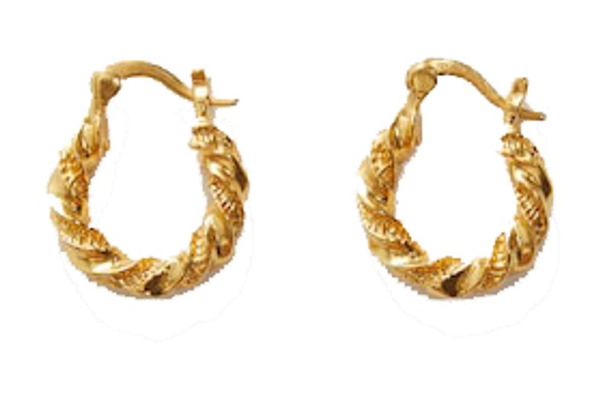 mango textured hoop earrings