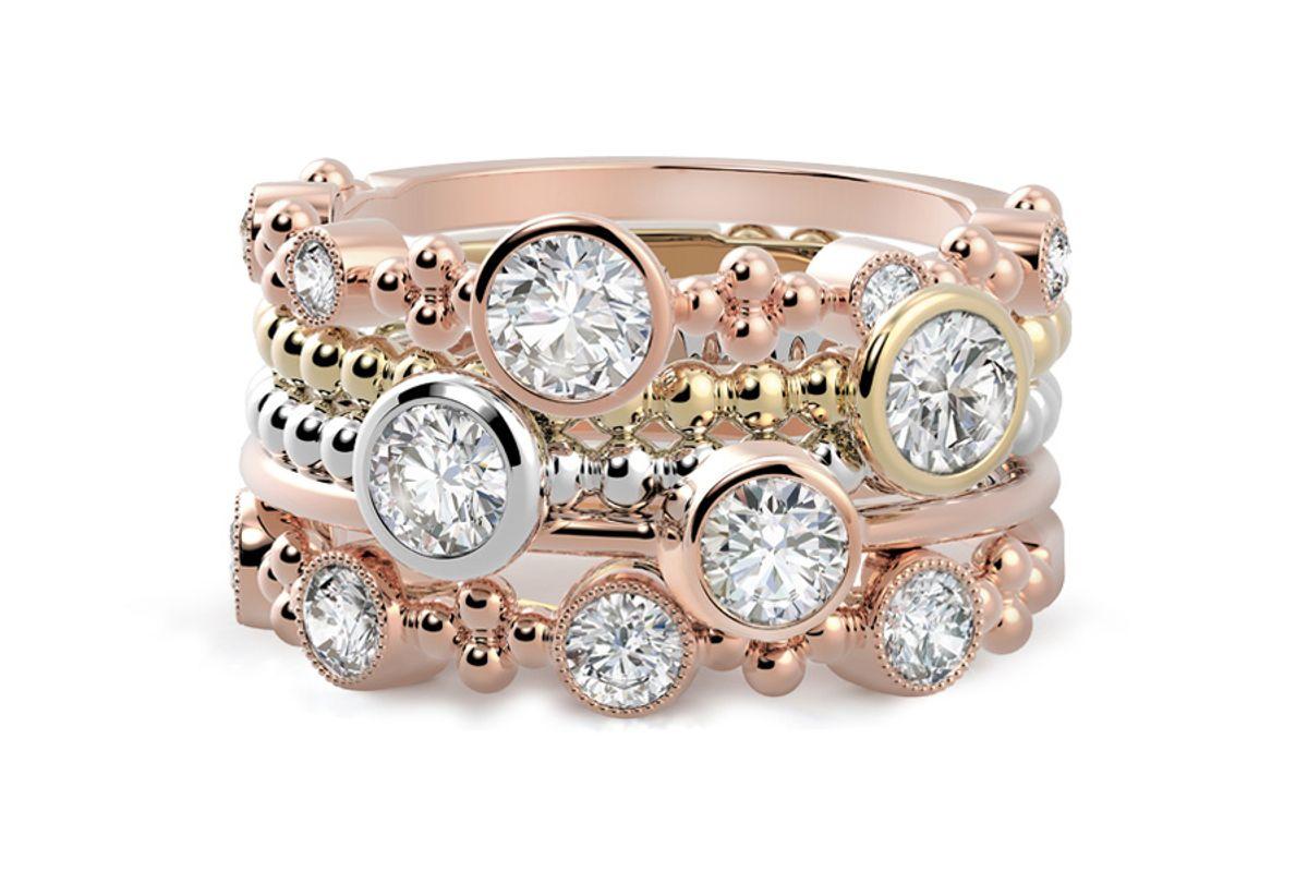 forevermark diamond stackable rings