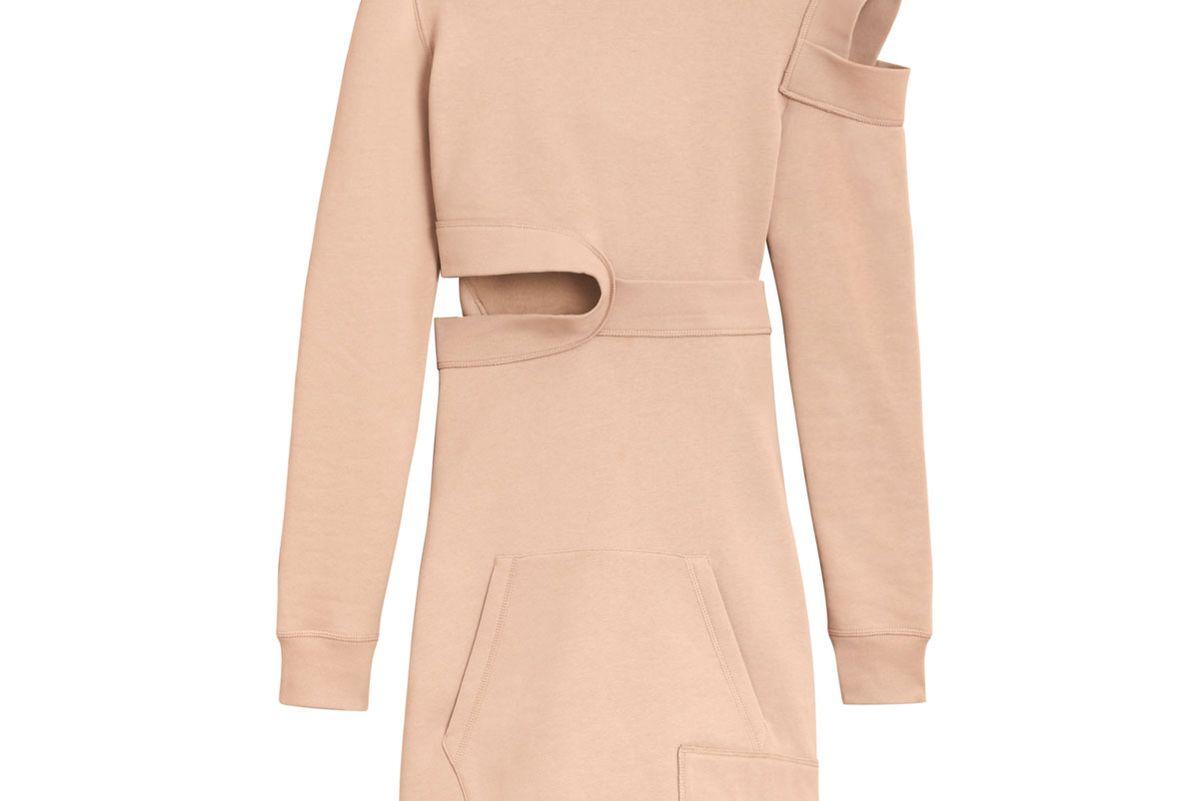 Cut-out Sweatshirt Dress