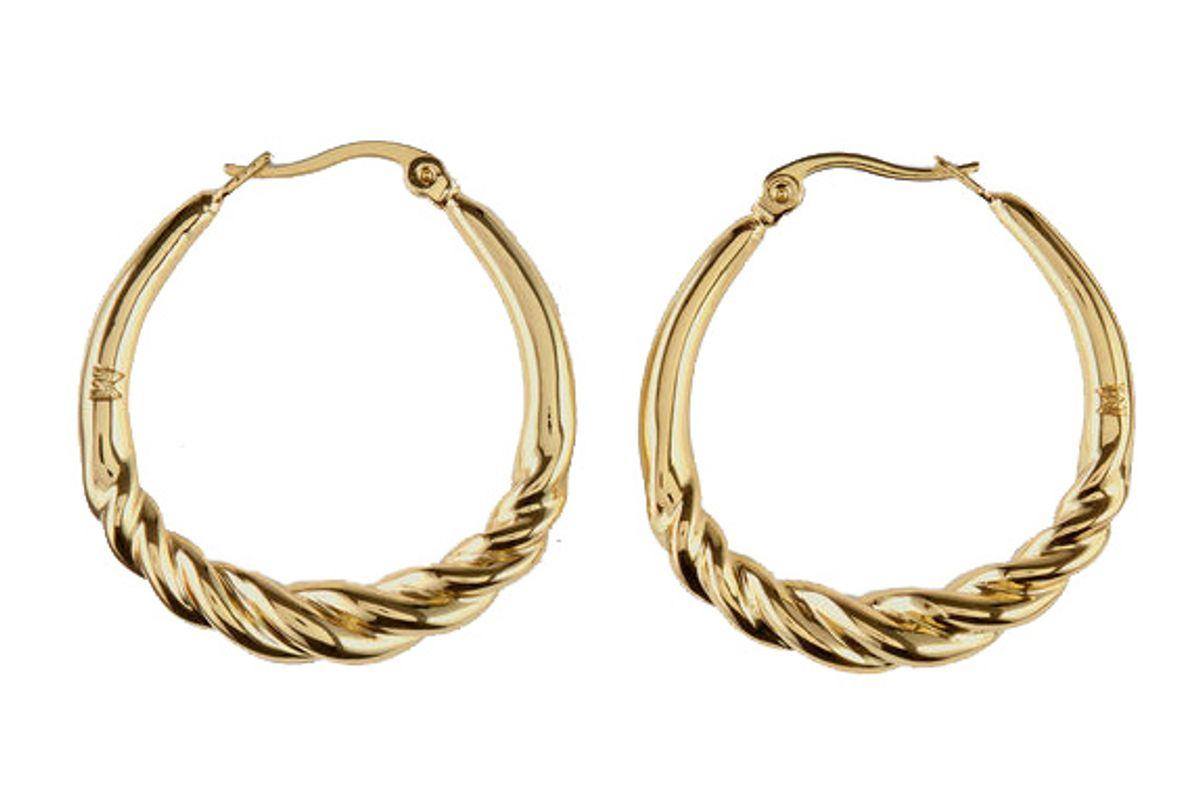 maje twisted hoop earrings