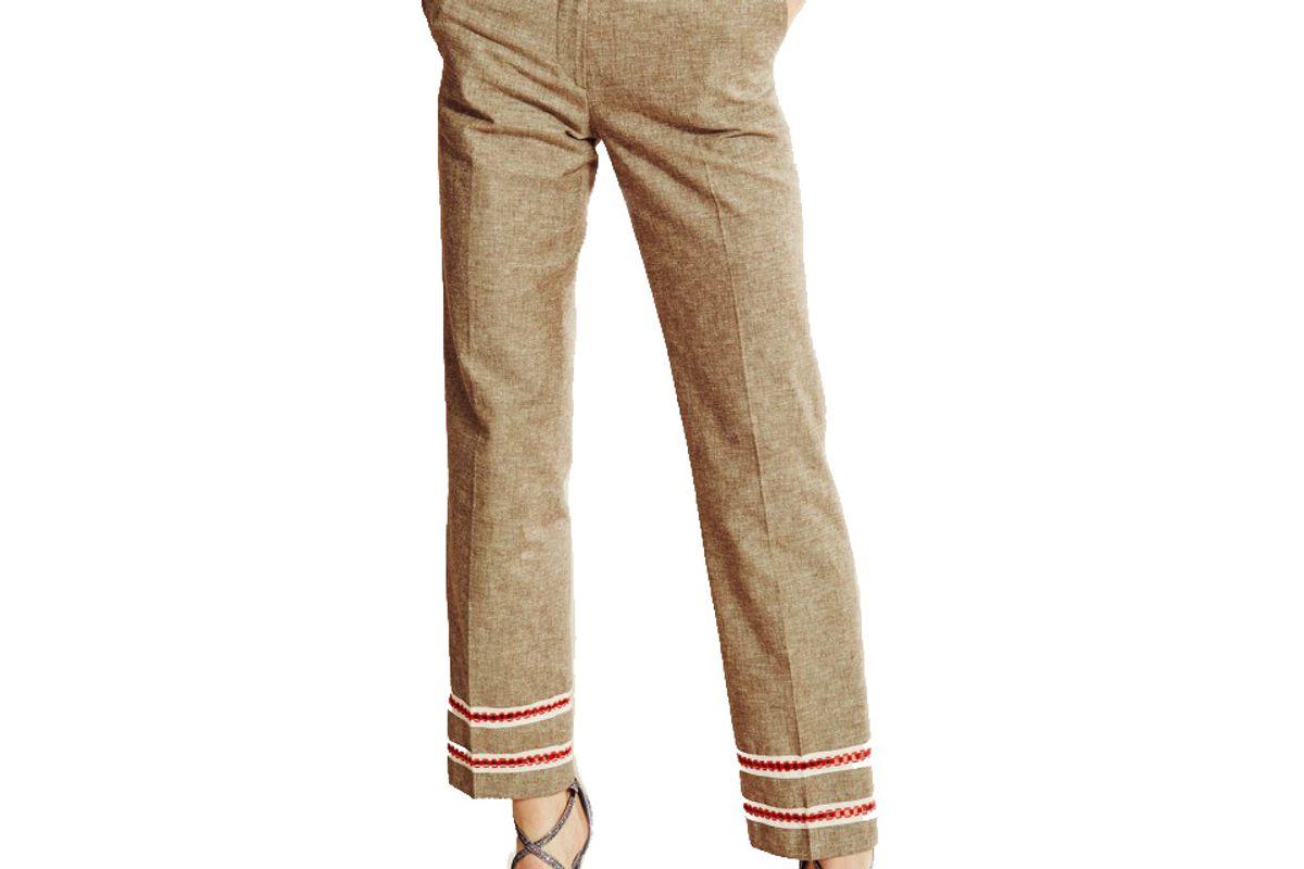 journe straight linen trousers