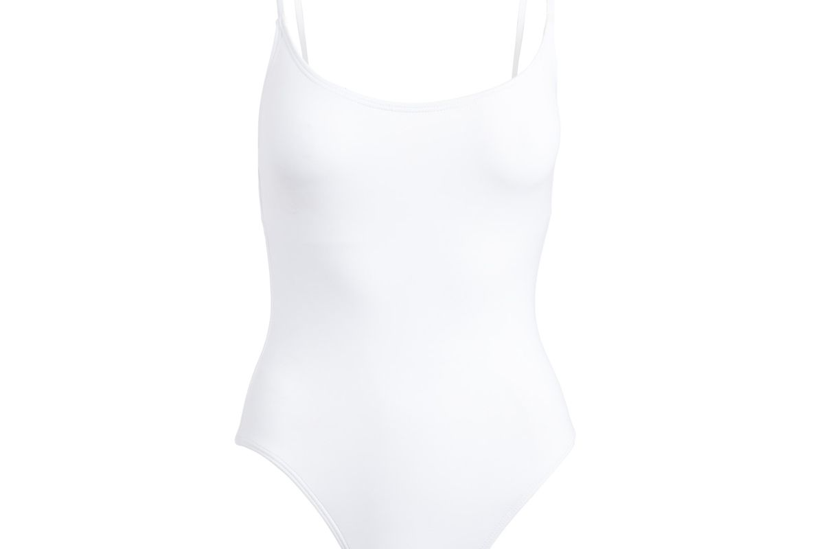 andie swim the amalfi in white