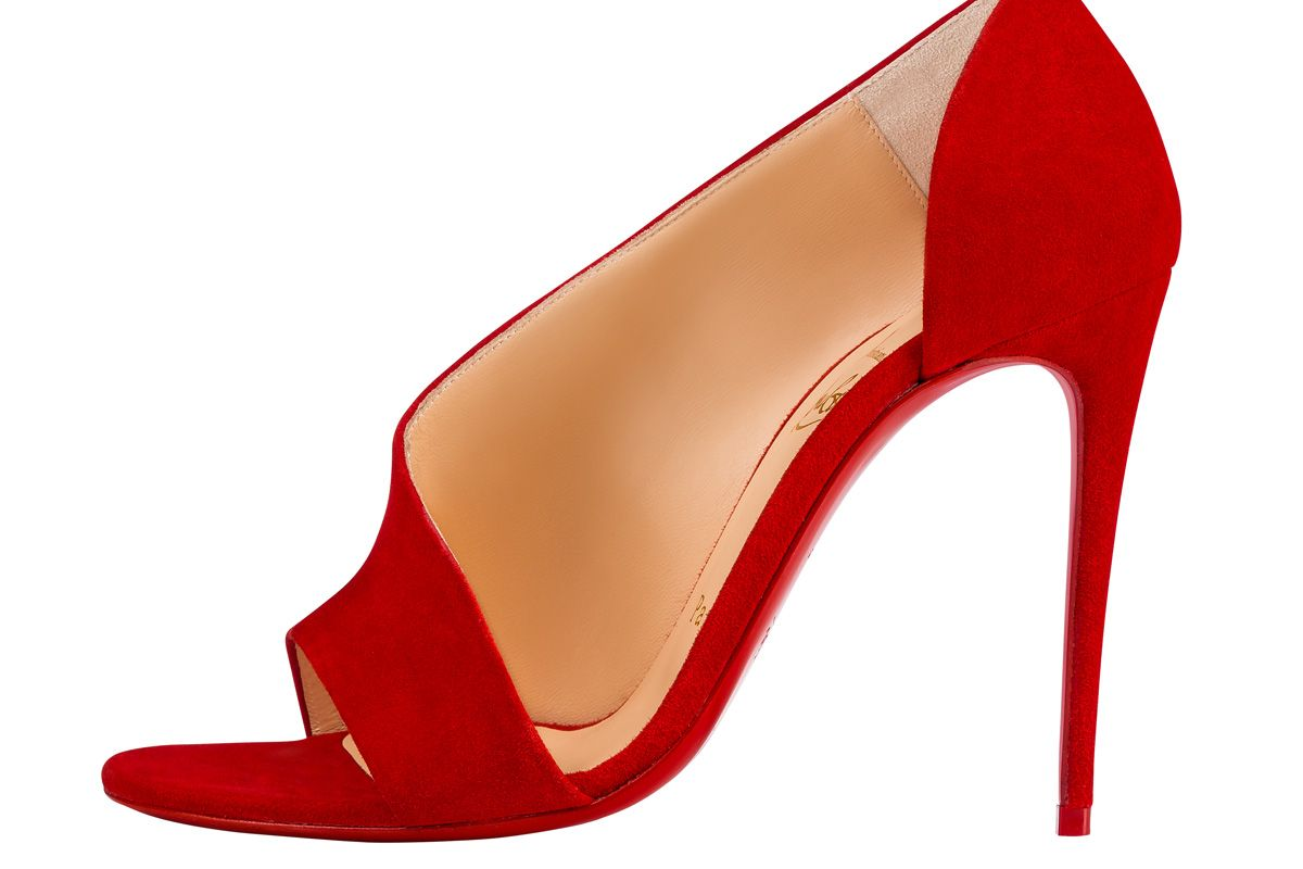 christian louboutin phoebe red suede sandal