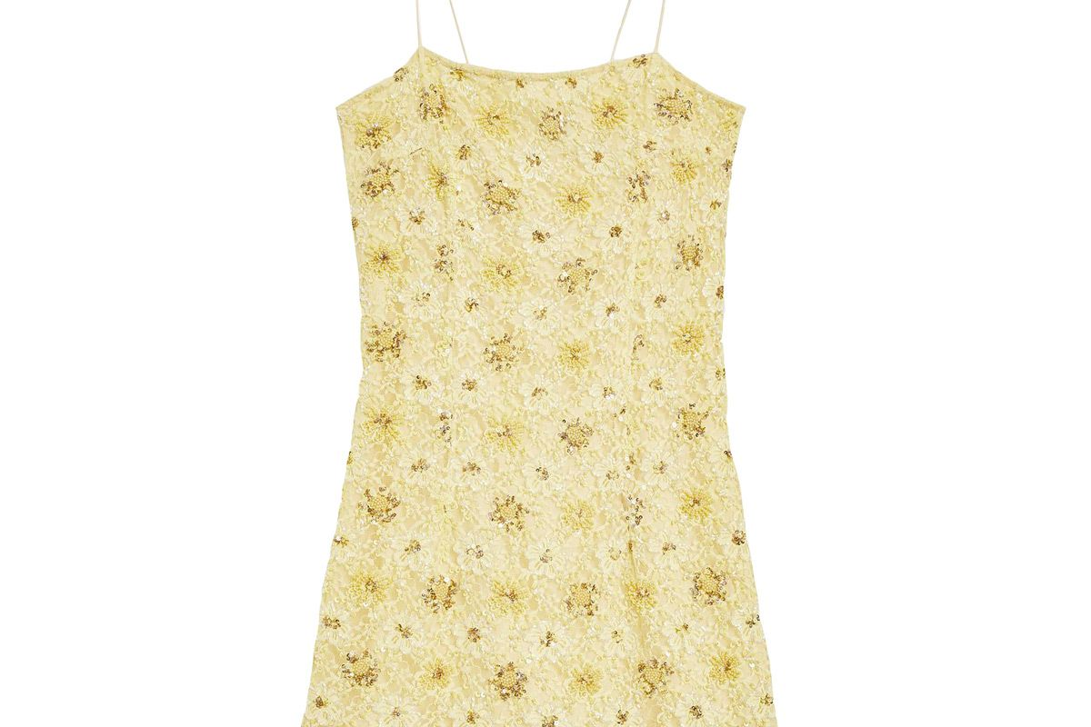 topshop bead and lace slip dress