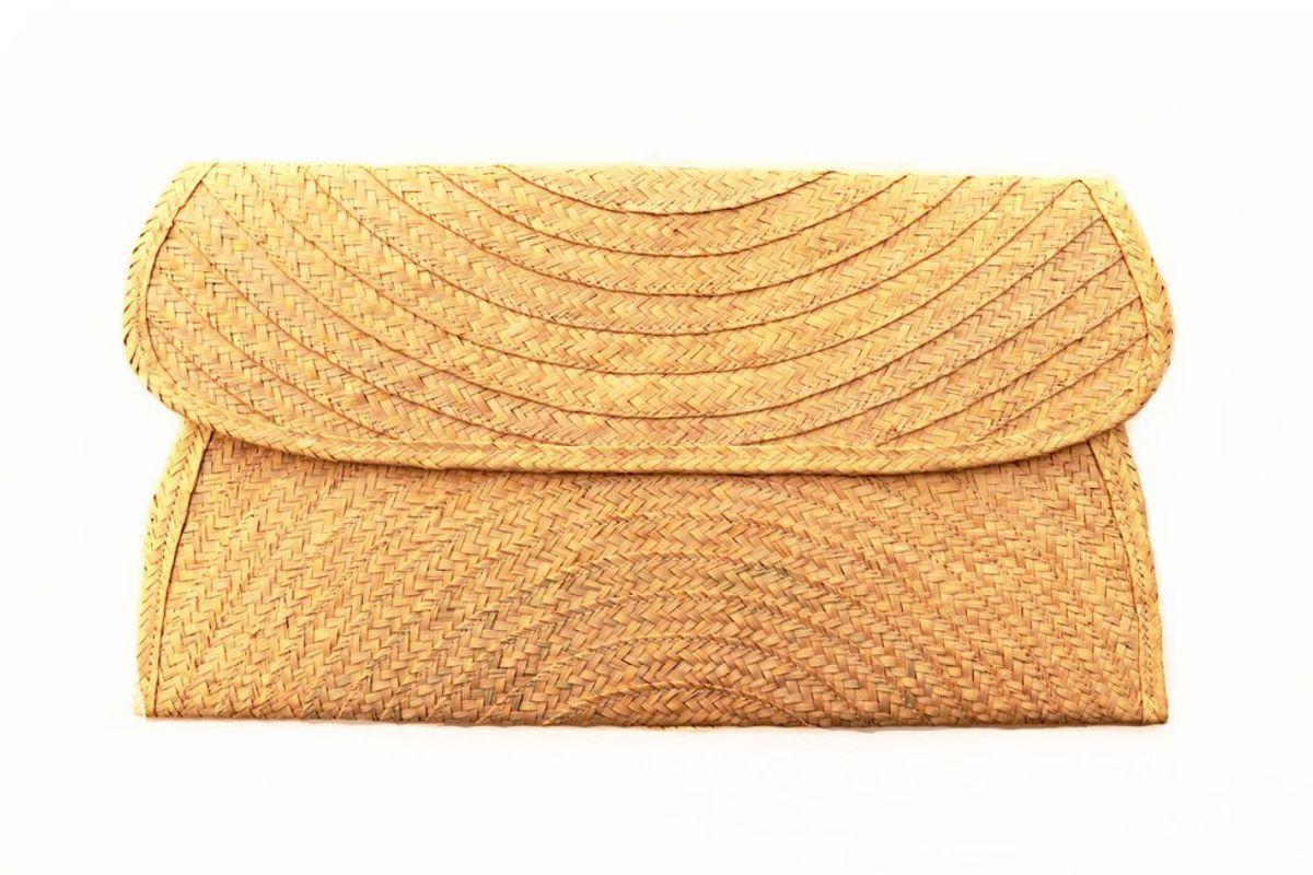 yanomami canvas clutch