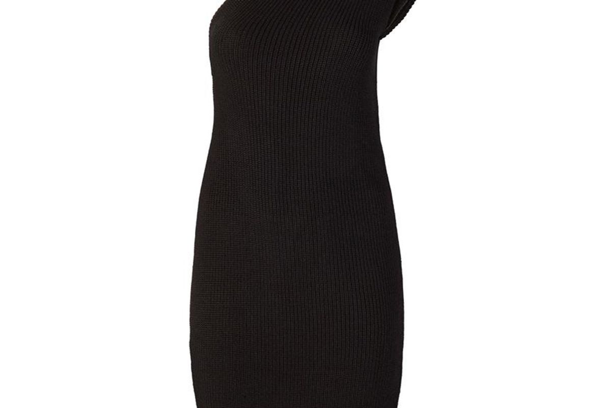 telfar black sweater tank dress