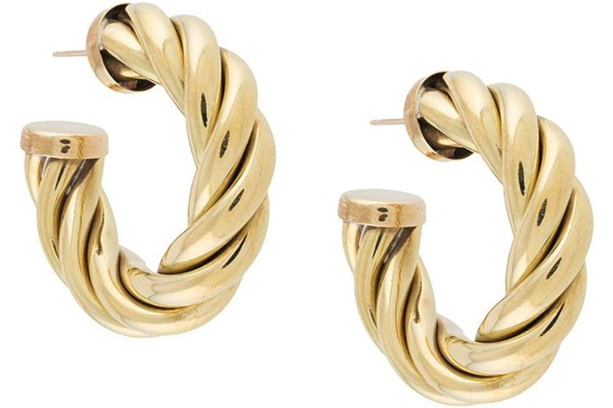 laura lombardi spira gold tone hoop earrings