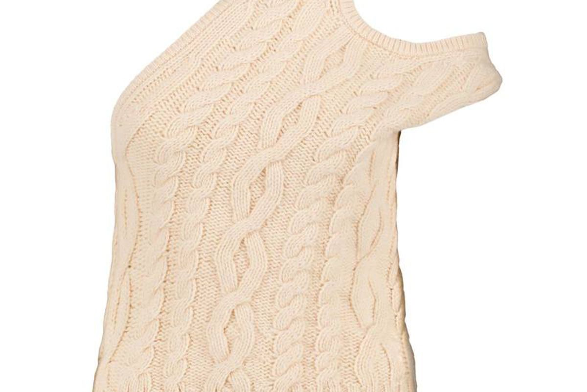 telfar off white half tank sweater