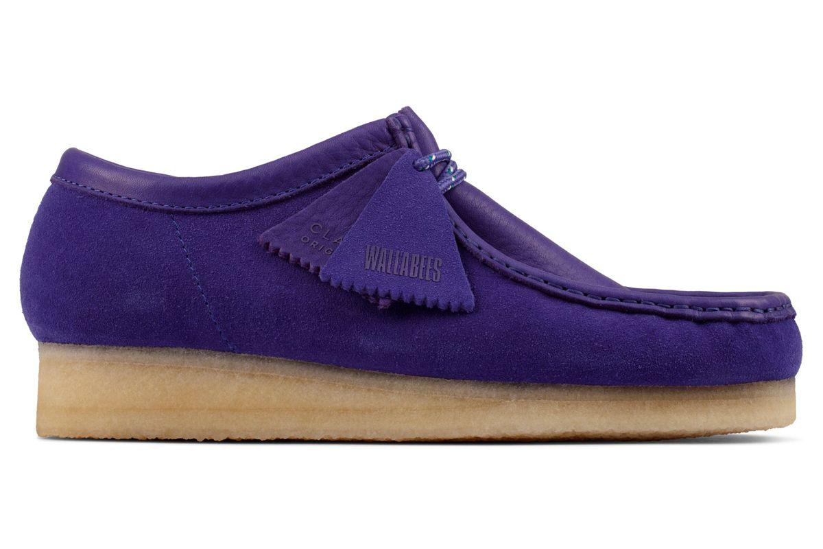 clarks wallabee purple combi