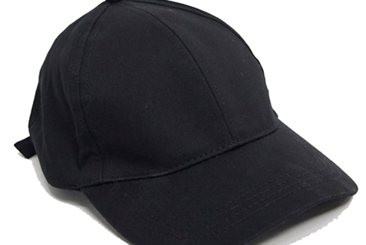 asos plain baseball cap with improved fit in black