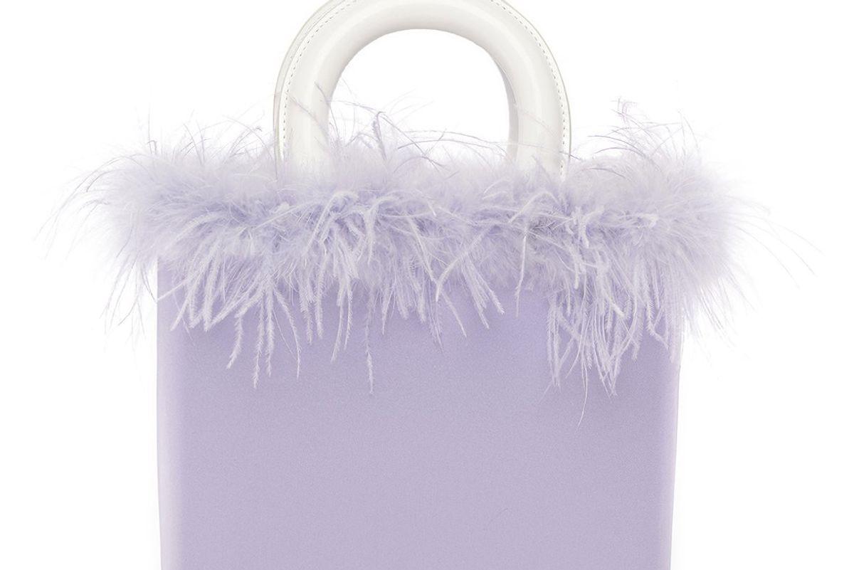 staud nic bag lavender patent