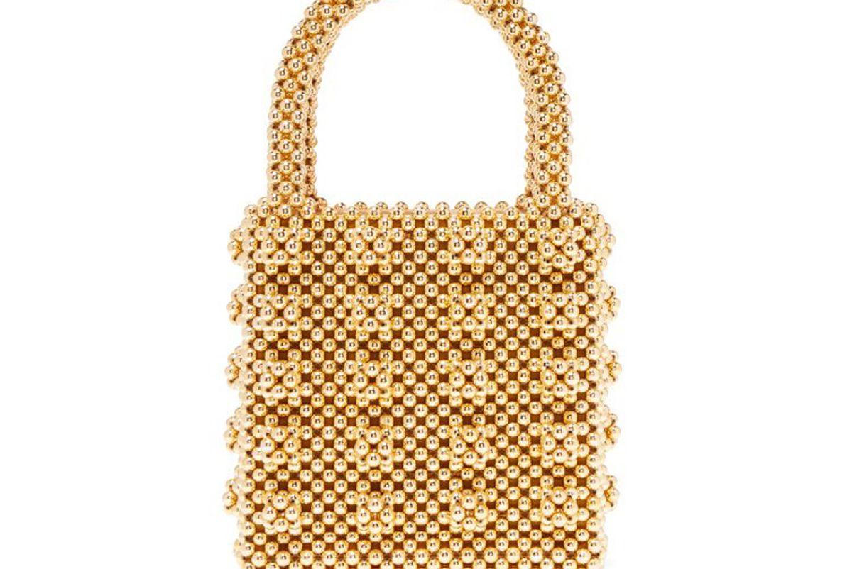 shrimps antonia faux-peal embellished bag