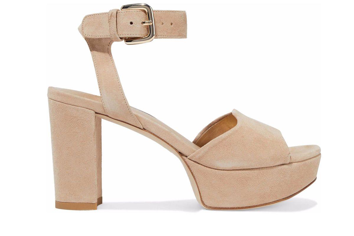 stuart weitzman realdeal suede platform sandals