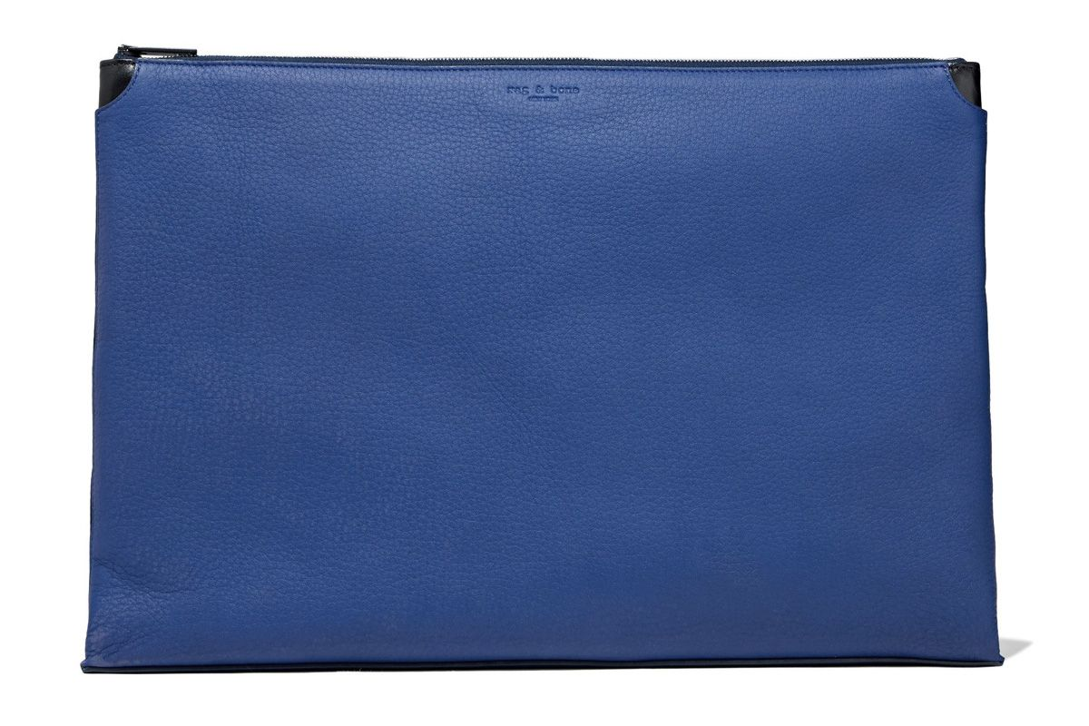 rag and bone pebbled leather pouch