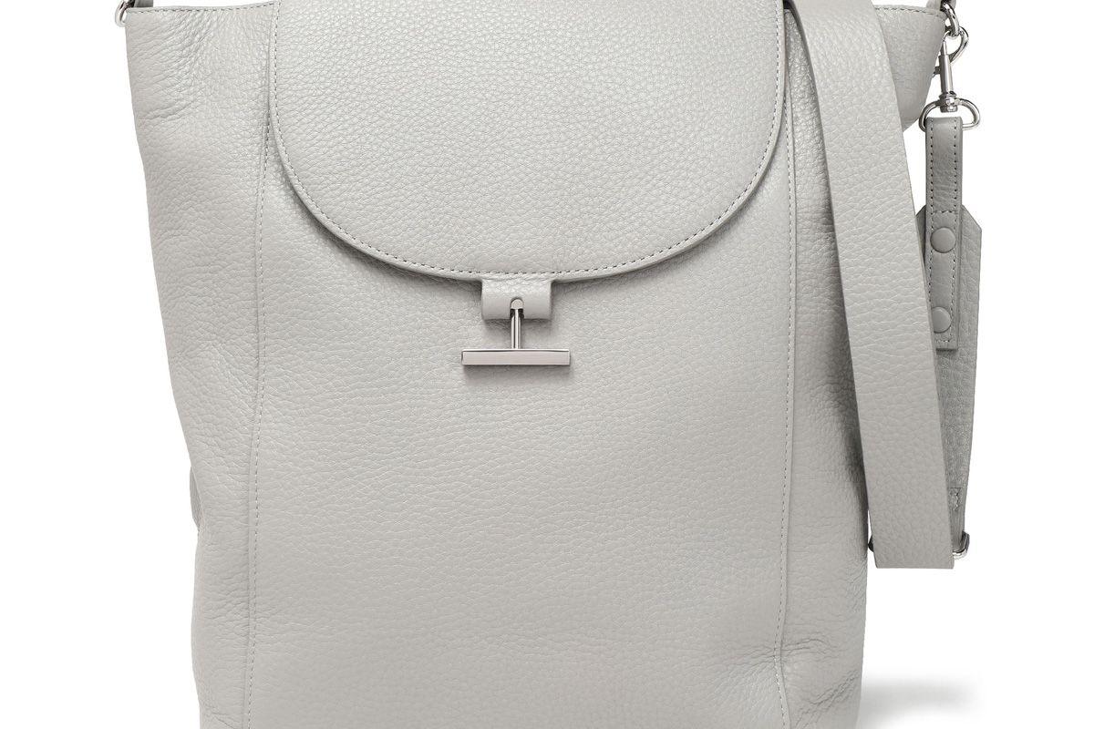 halston heritage textured leather shoulder bag