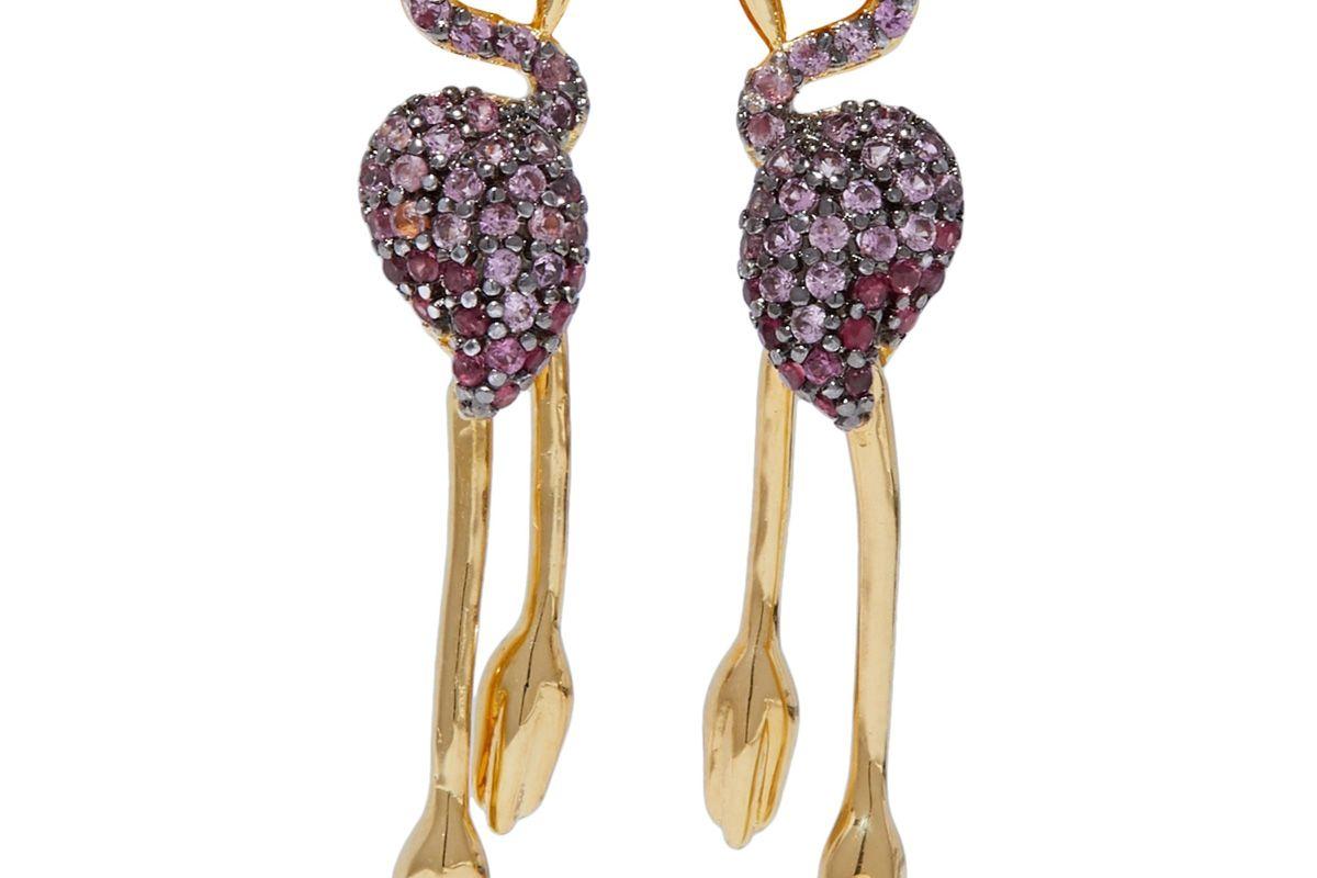 noir jewelry gold tone crystal earrings