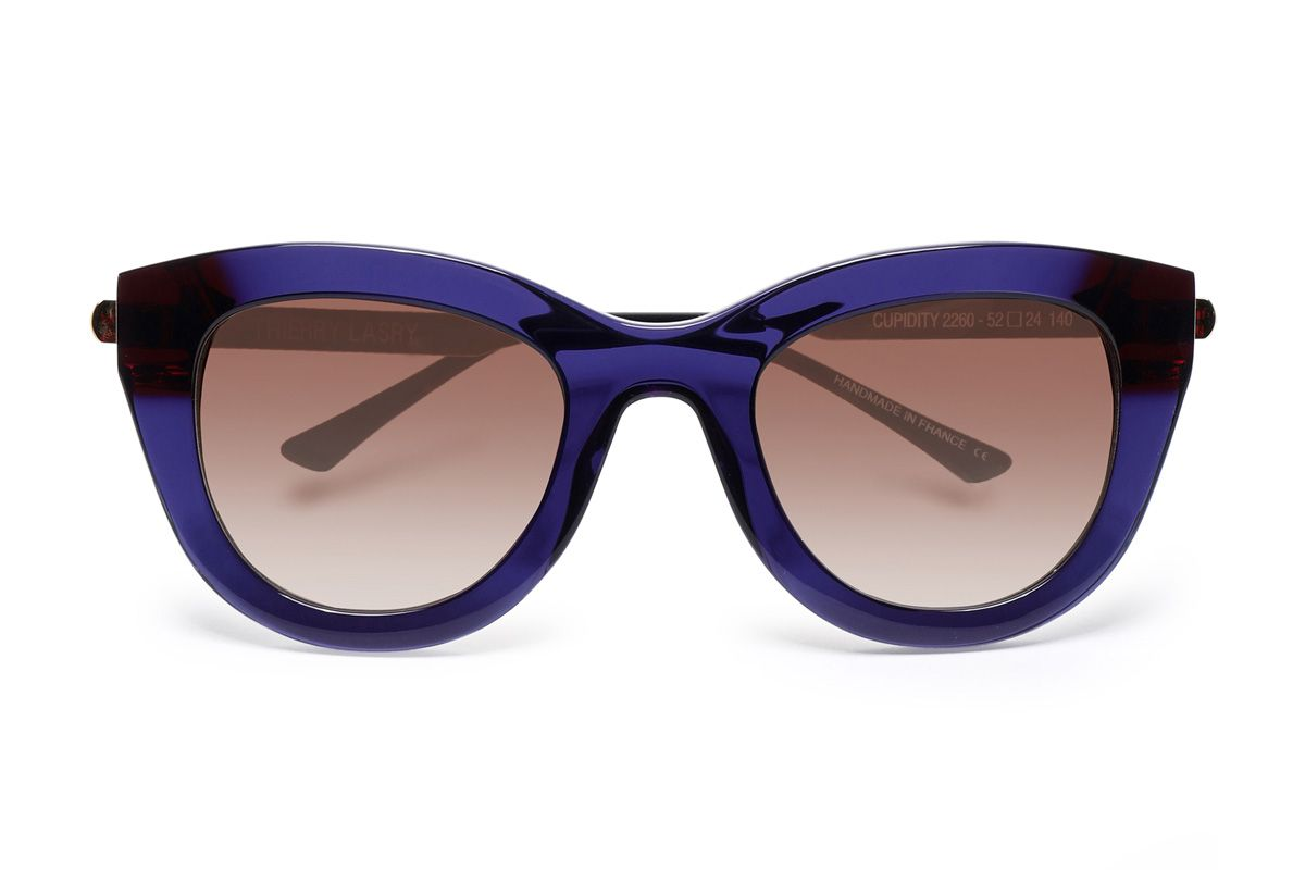 thierry lasry cat eye tortoiseshell acetate and silver tone sunglasses