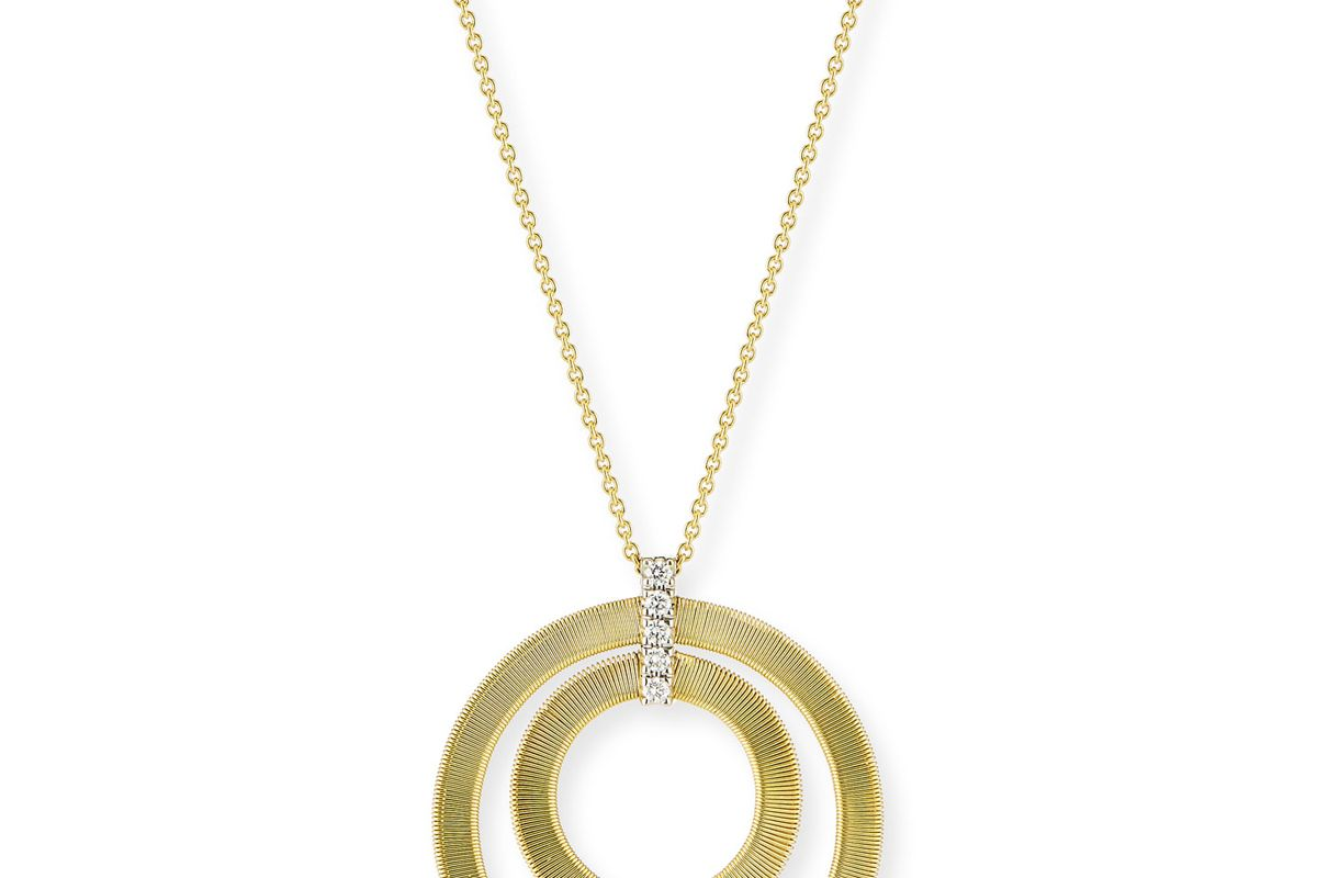 marco bicego masai concentric circle pendant with diamonds