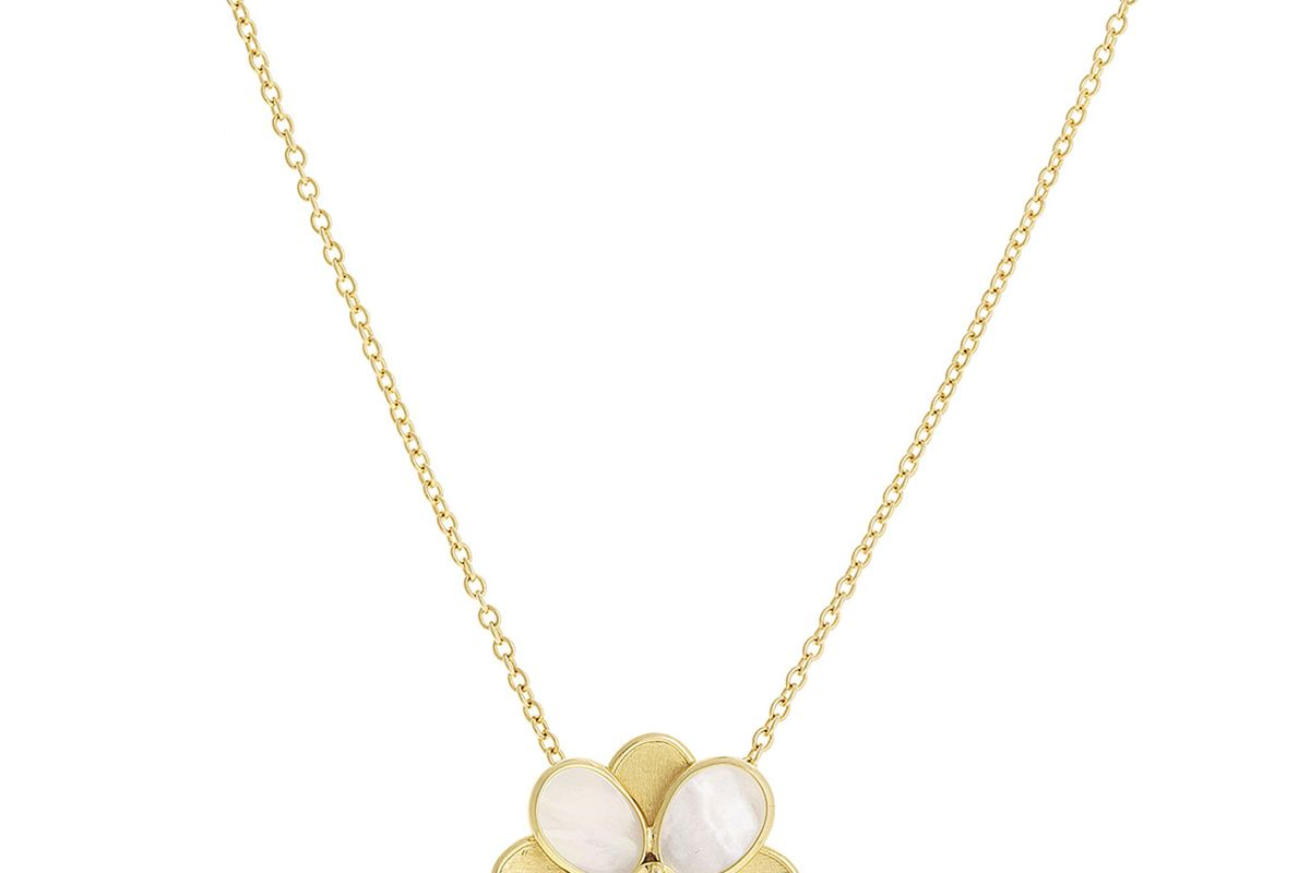 marco bicego petali mother of pearl pendant necklace