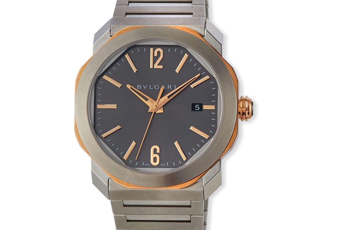bulgari mens 41mm octo roma bracelet watch with date