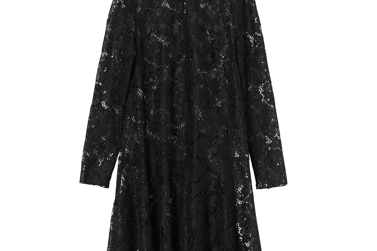 h&m lace stand up collar dress