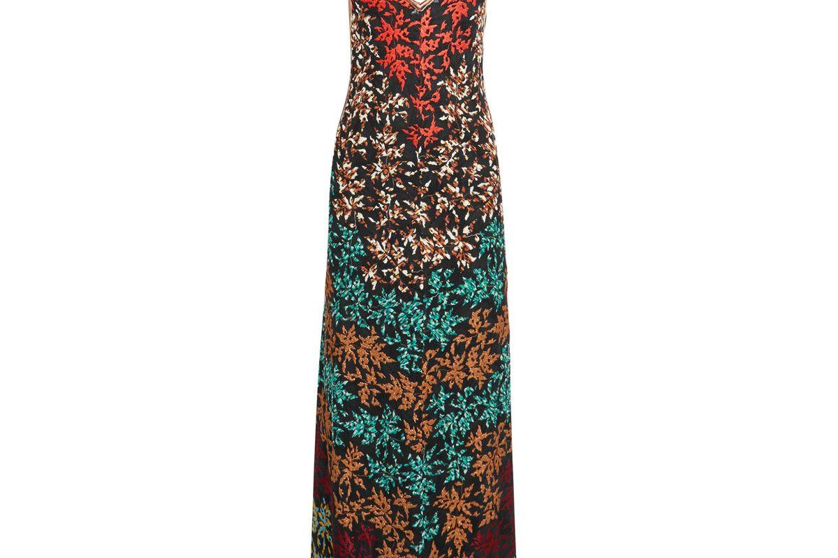 missoni embroidered crochet knit maxi dress