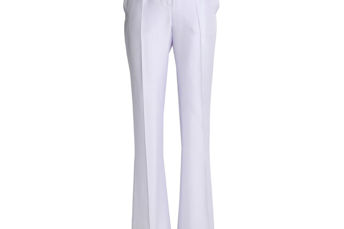 vionnet silk shantung flared pants