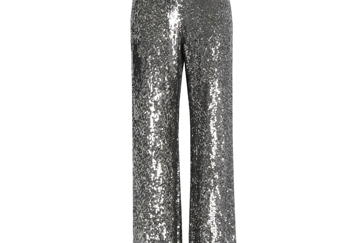 alexis sequined silk wide leg pants