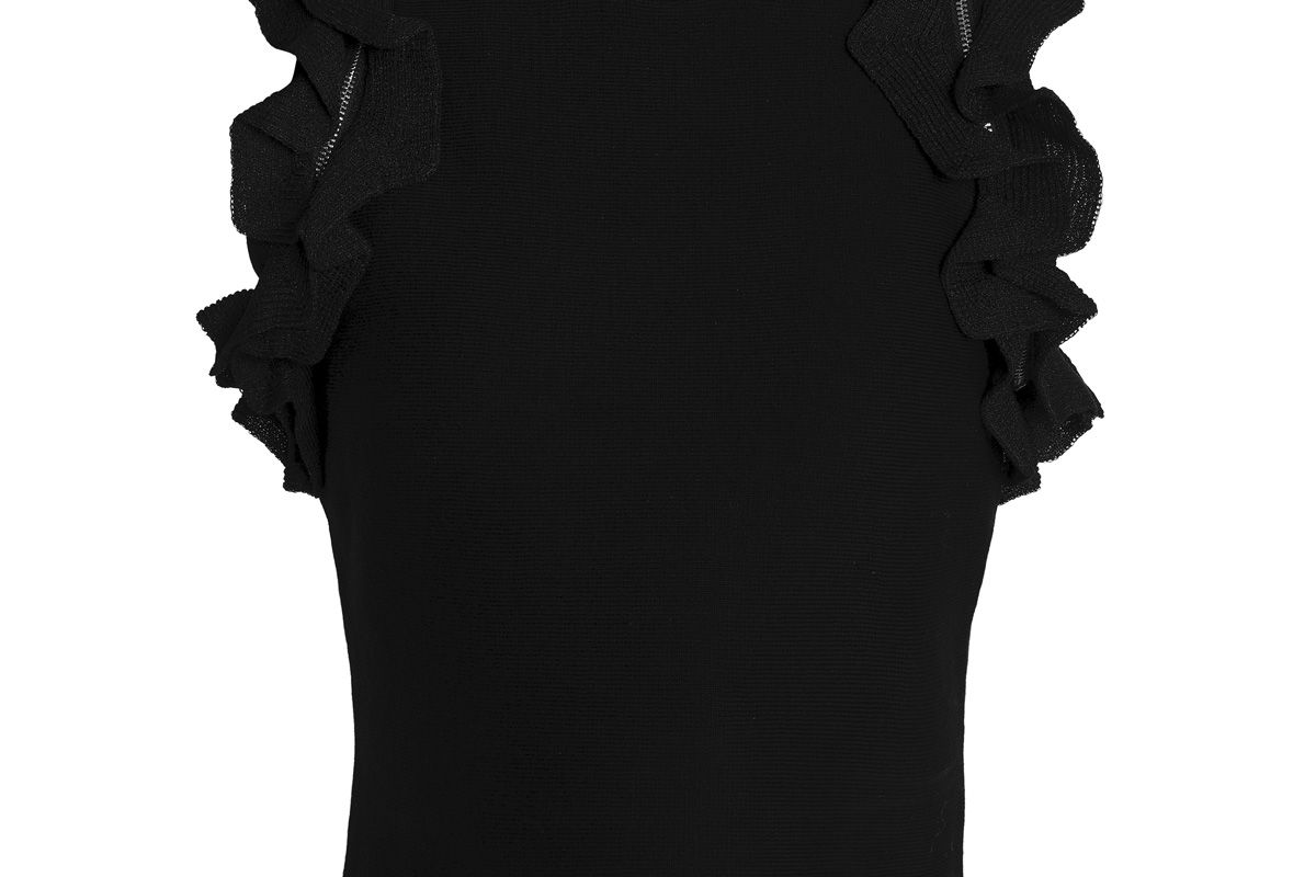 3.1 phillip lim ruffle trimmed stretch cotton top