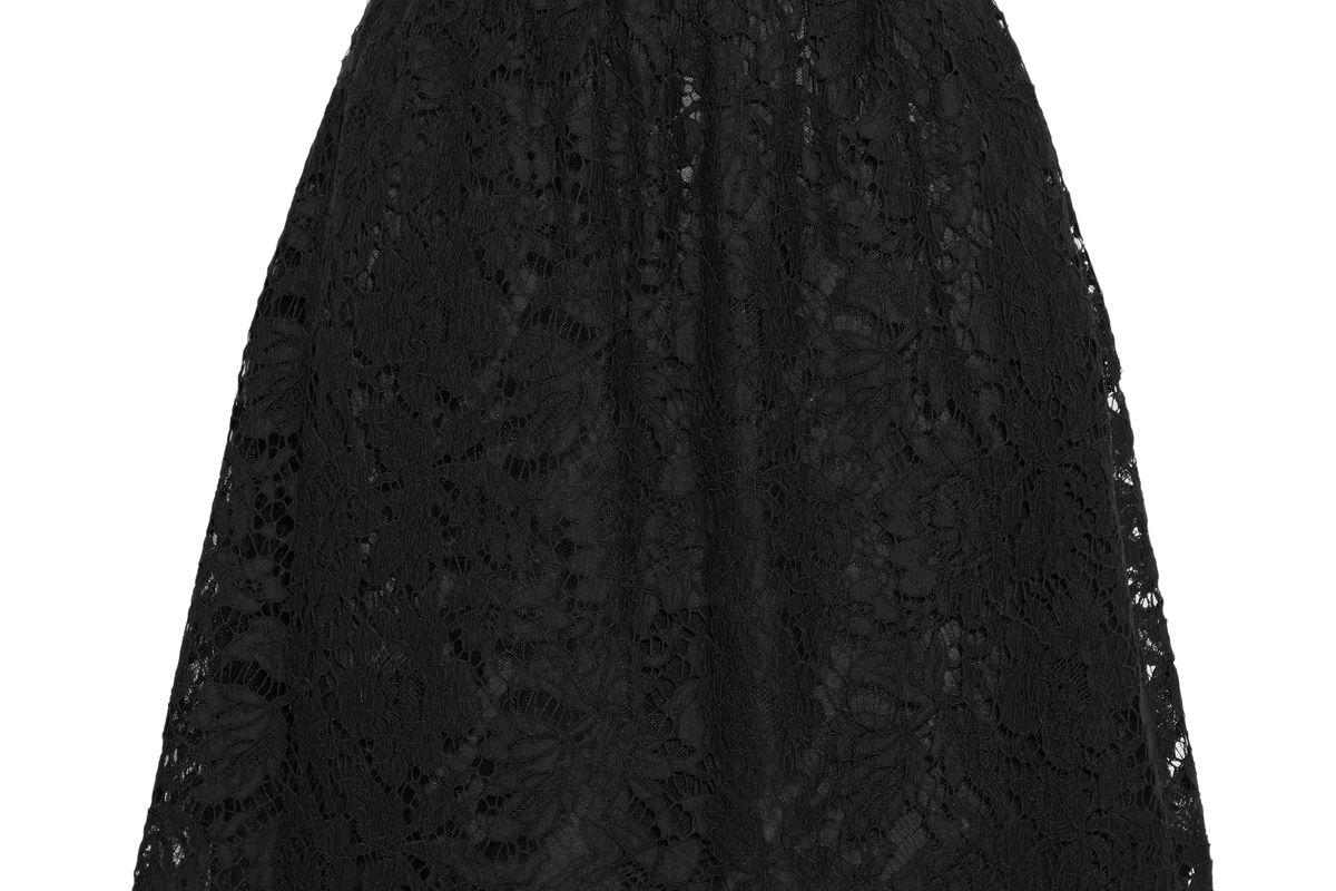 valentino cotton blend corded lace mini skirt