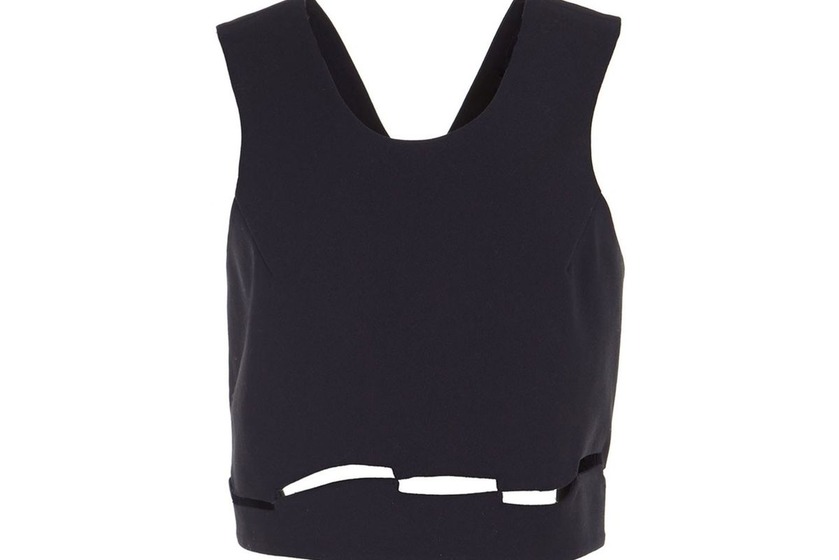 Finales cut out apron cropped top