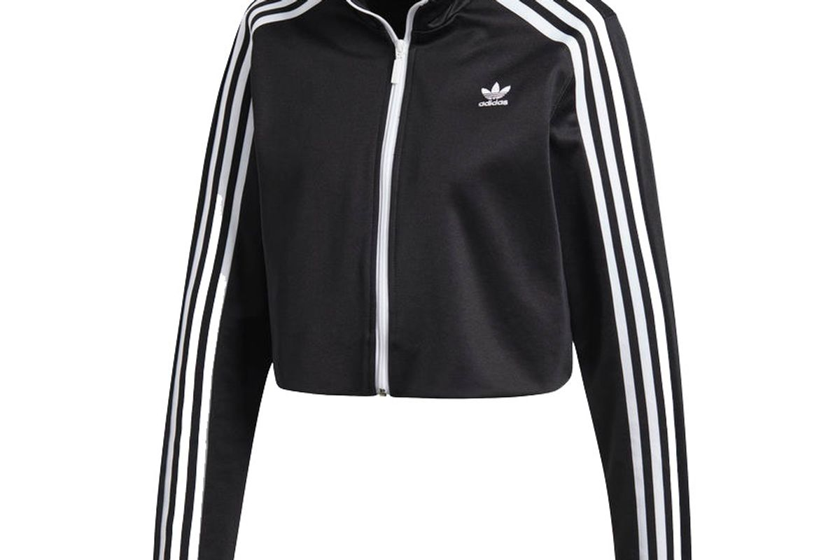adidas cropped track top