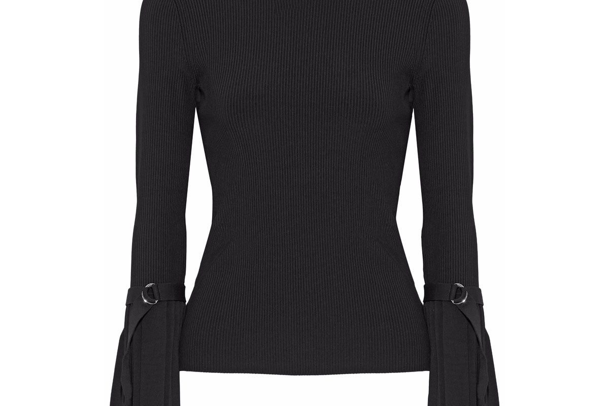 3.1 phillip lim pleated ribbed knit sweater