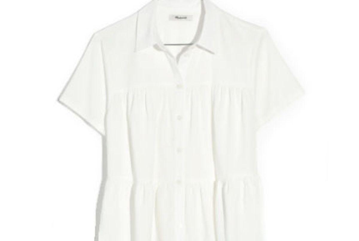 madewell seamed button down shirt