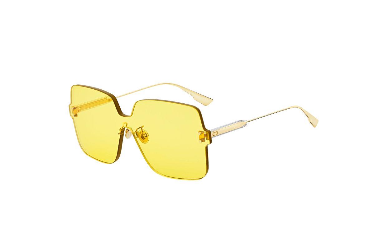 dior color quake 1 sunglasses in yellow