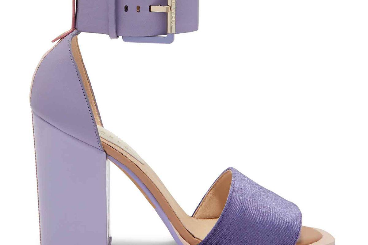 ted baker errita block heel sandals in lilac