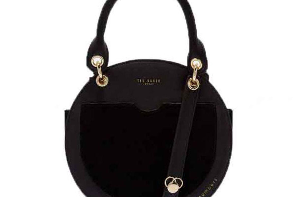 ted baker sunnie leather circular bag