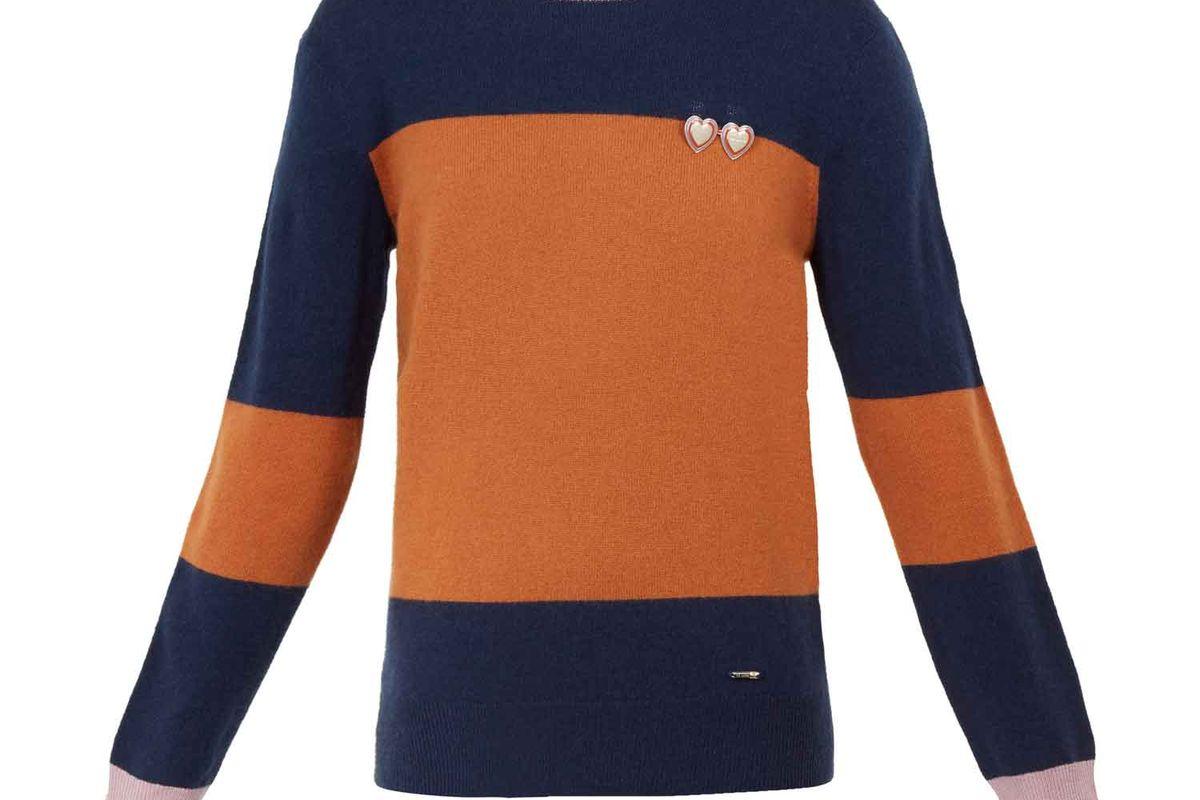 ted baker bryonny cashmere color block jumper