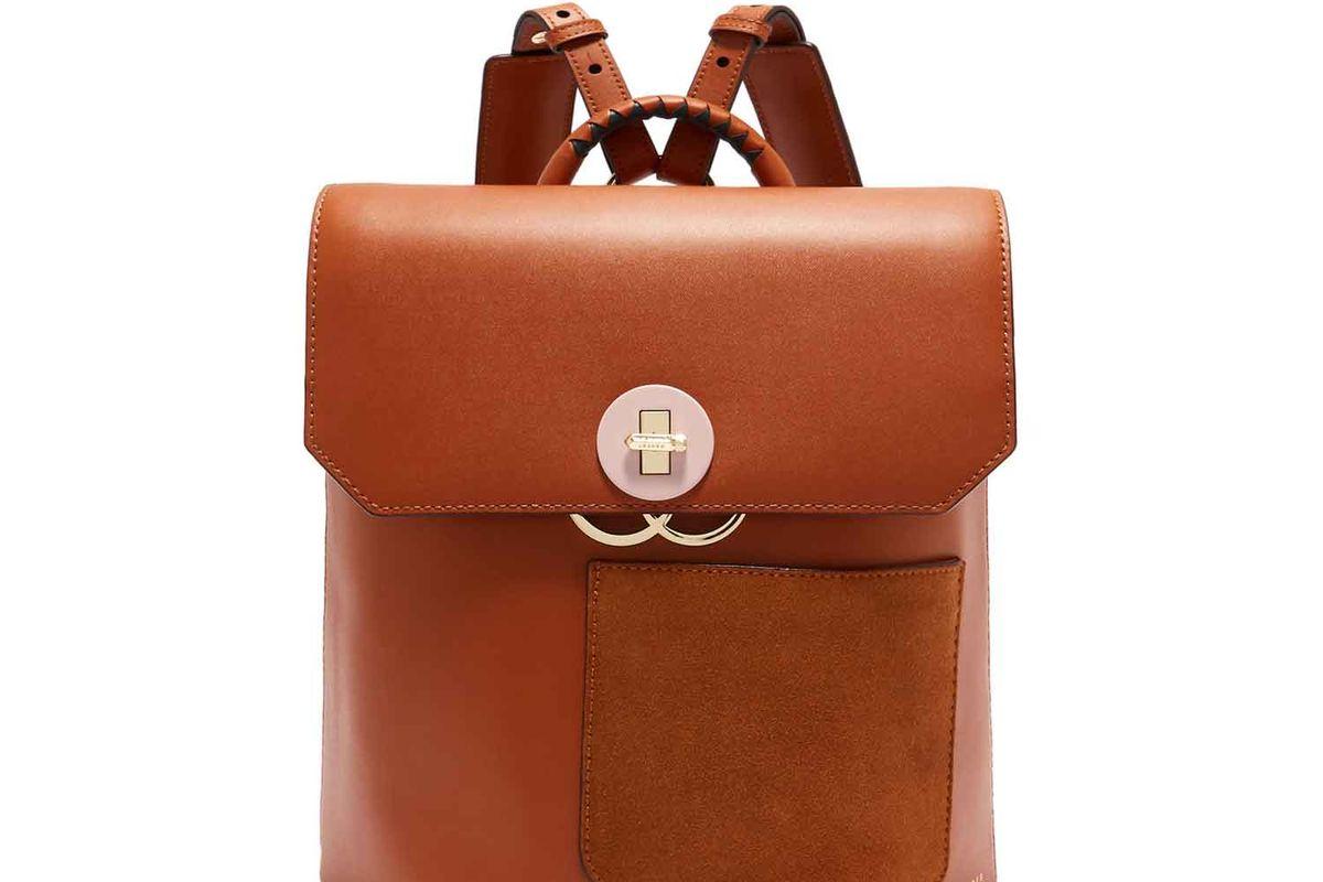 ted baker keo leather backpack