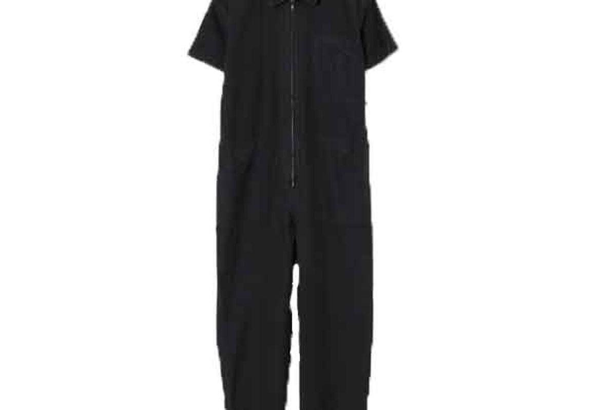 caron callahan black zip foster jumpsuit