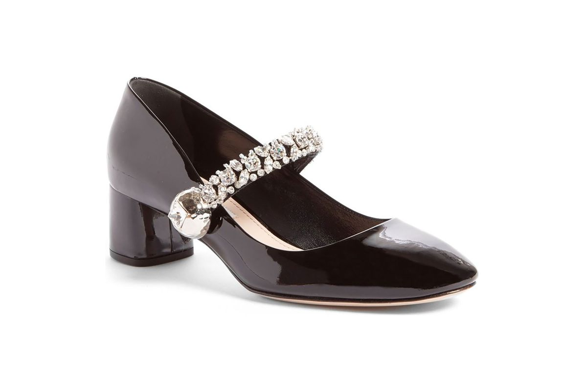 Crystal Studded Mary Jane pumps
