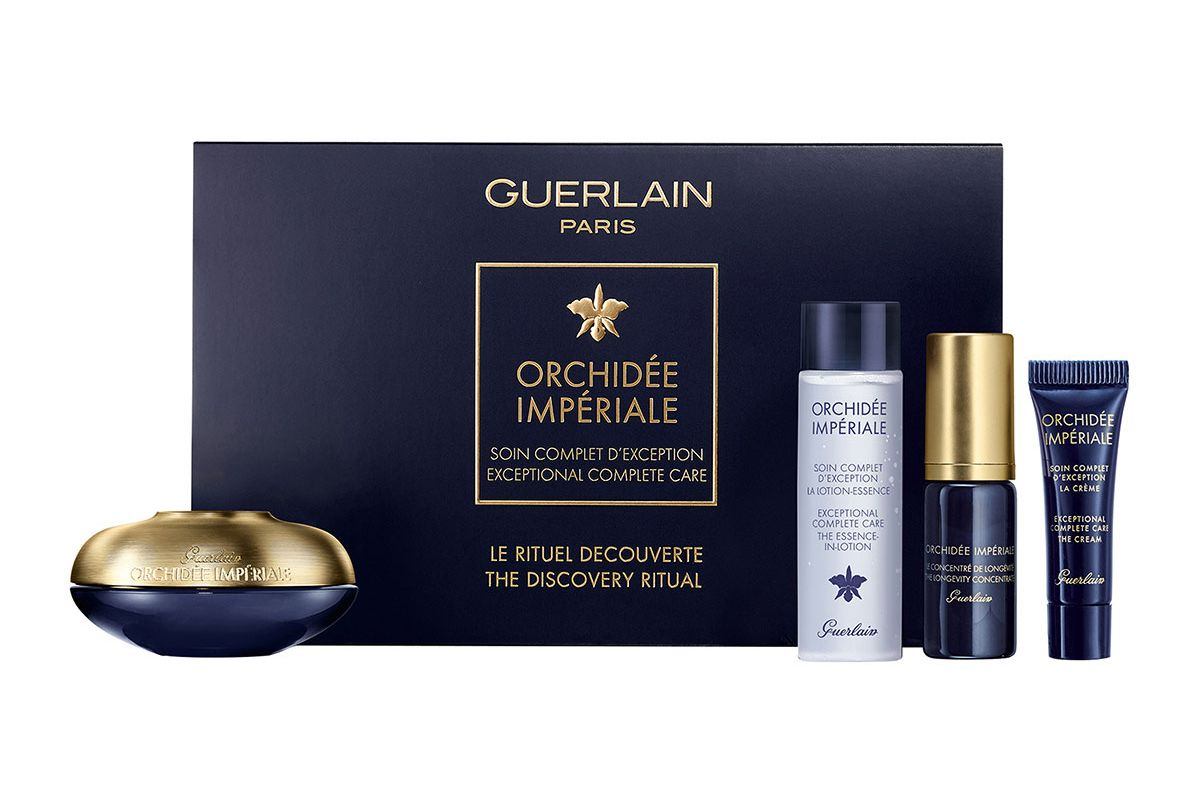 guerlain orchidee imperiale anti aging eye and lip contour cream discovery set