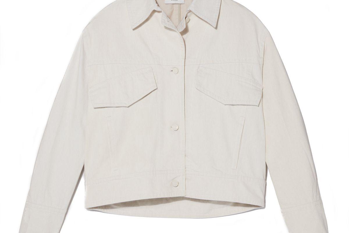 vince denim utility jacket