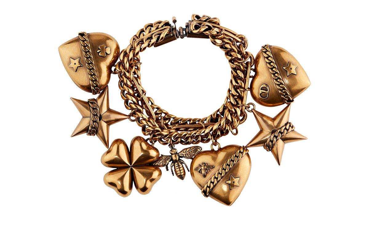 dior gold charm bracelet