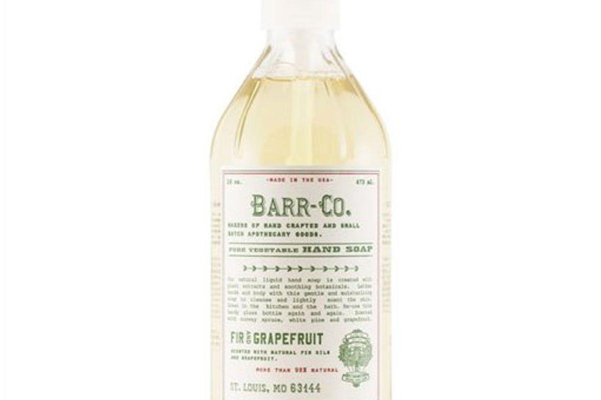barr co fir and grapefruit liquid hand soap